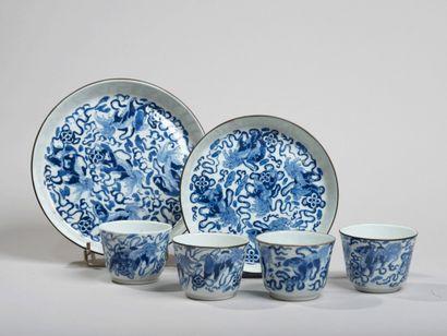 VIETNAM, Hue - XIXe siècle- Service à thé...