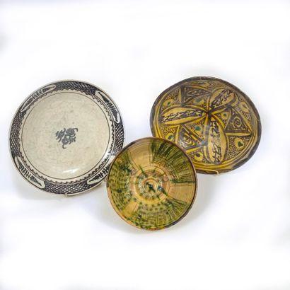 Ensemble de 3 céramiques anciennes