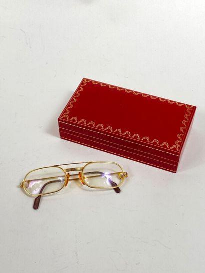 MUST DE CARTIER. Paire de lunettes de vue...