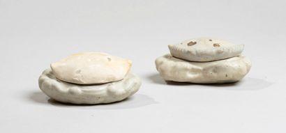 CHINE - XIIIe/XIVe siècleDeux boites en forme...