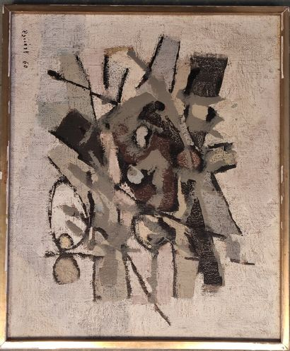 ECOLE XX SIECLE  Abstraction, 1960  Huile...