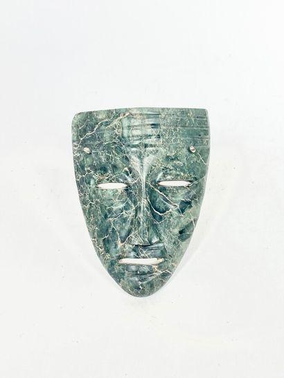 Masque en malachite de style colombien