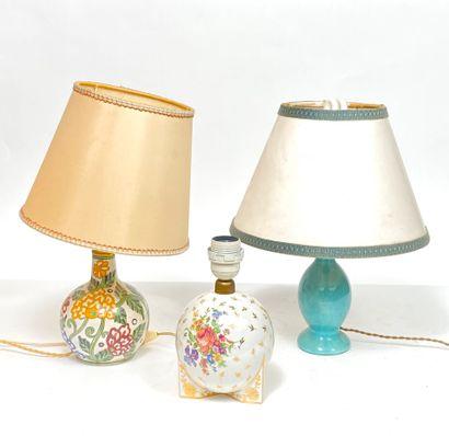 Lot de trois lampes modernes
