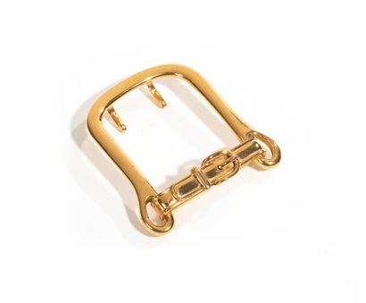 HERMES    Boucle de ceinture en métal doré...