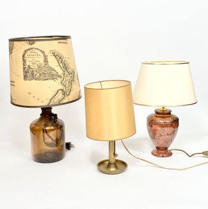 Lot de trois lampes