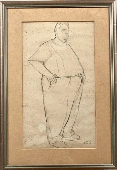 Reynold ARNOULD (1919-80)  Portrait en pied...