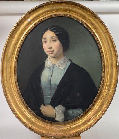 Louis BOULANGER  Portrait de femme  Huile...