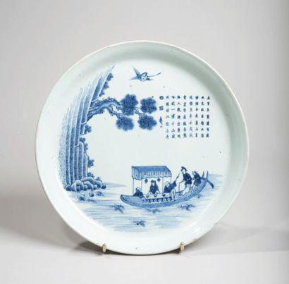 VIETNAM - XIXe siècle - Plat en porcelaine...