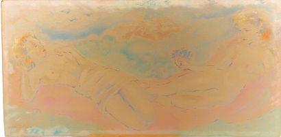 Mariette LYDIS  Deux femmes nues allonfées...