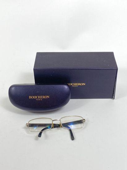 BOUCHERON. paire de lunettes monture métal...