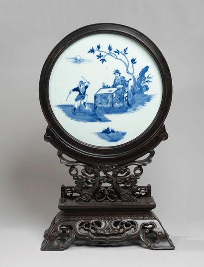 VIETNAM, Hue - XIXe siècle - Plaque ronde...
