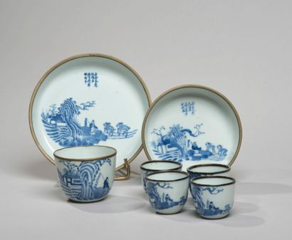 VIETNAM, Hue - XIXe siècle - Service à thé...