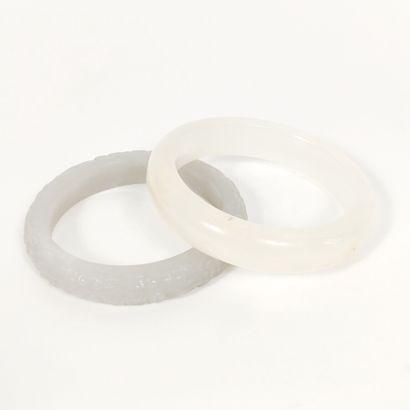 CHINE, Moderne  Lot de deux jolis bracelets...
