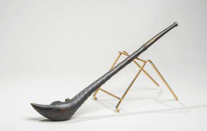 CHINE - XXe siècle - Pipe à opium en bambou,...