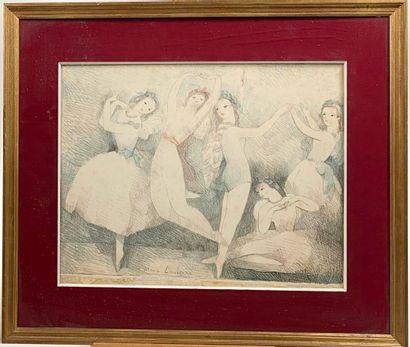 Marie Laurencin  Les fêtes de la danse  Lithographie...