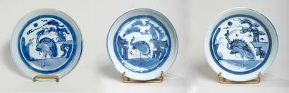 CHINE - XIXe siècle - Lot comprenant trois...