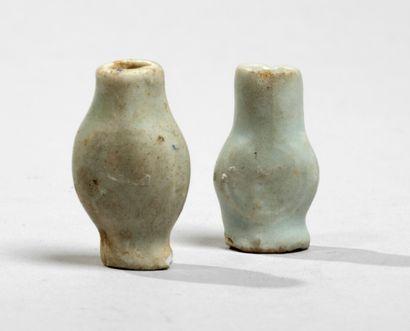 CHINE - XIIIe/XIVe siècleDeux vases miniatures...
