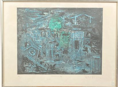 MOO CHEW WONG (1942-)  Ecriture 96  Lithographie,...
