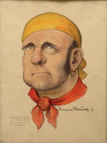 BLANDIN ÉTIENNE Nommé peintre officiel de la Marine en 1934 «Mathieu Corlay, dit...