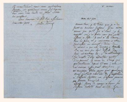 * Lettre autographe signée de Jules Verne...