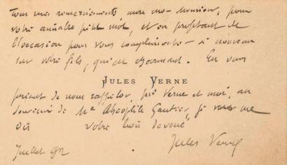 * Carte de visite autographe de Jules Verne...