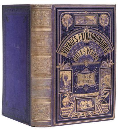 * [Mers et Océans] L'Île Mystérieuse par Jules Verne. Illustrations de Férat. Paris,...
