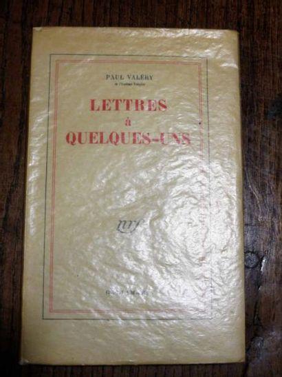 VALERY (Paul). Lettres à quelques-uns. Éditions...