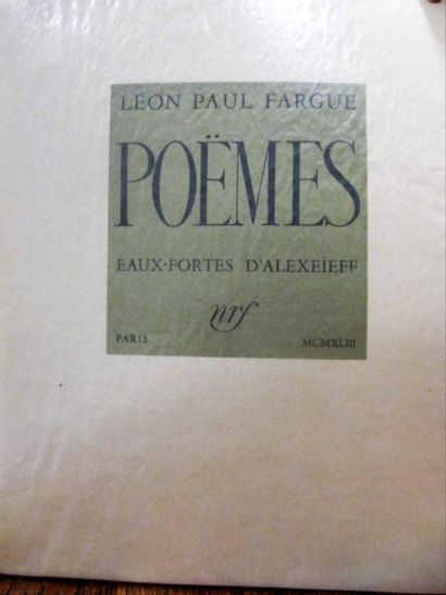 [ALEXEIEFF (Alexandre)] - FARGUE (Léon-Paul)....
