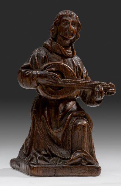 Statuette en chêne sculpté Représentant un...