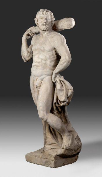 Statue de parc en pierre Représentant Hercule...