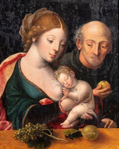 attribué à Cornelis BAZELAERE , dit le maître au Perroquet (Actif à Anvers vers 1520)