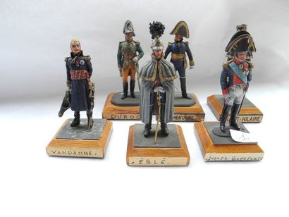 6 figurines de Debercy Cambronne, Duroc,...