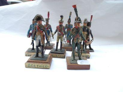 8 figurines Antonio Officier 1er hussards,...