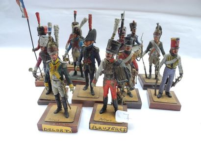 12 figurines Arturo 2ème rit Lanciers, officier...