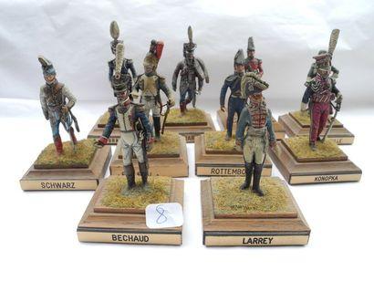 10 figurines Crahet Brayer, Gerard, Bechaud,...