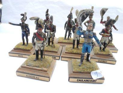 10 figurines Crahet Carra St Cyr, Quiot,...