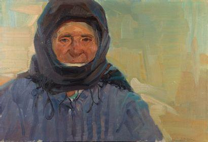 VARTKES STEPANIAN (1918-2001) ??????? ????????? Sévan - portait de vieille femme...