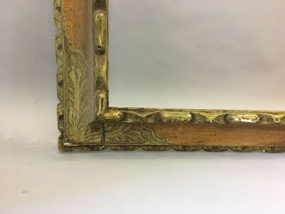 *Beau cadre en bois mouluré sculpté à profil...