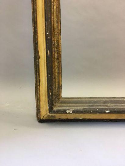 *Grand et beau cadre en bois mouluré anciennement...