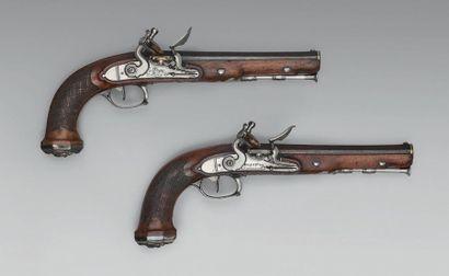 Deux pistolets à silex attribués au général...