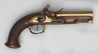 Pistolet à silex de marine ou de voyage,...