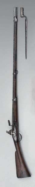 Rare fusil d'infanterie à silex modèle 1728,...