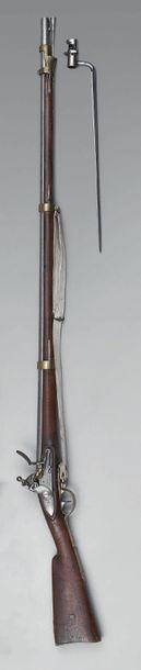 Très rare fusil à silex d'infanterie des...
