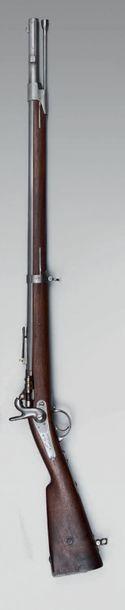 """Carabine à percussion centrale de chasseur modèle 1867, dite """"à tabatière"""", canon..."""