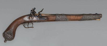 Grand pistolet à silex de présent pour l'Afrique du Nord par Lepage Moutier, donné...