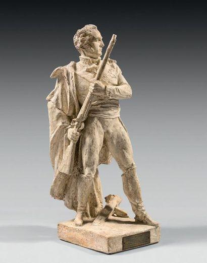 Maquette d'étude de la statue représentant...
