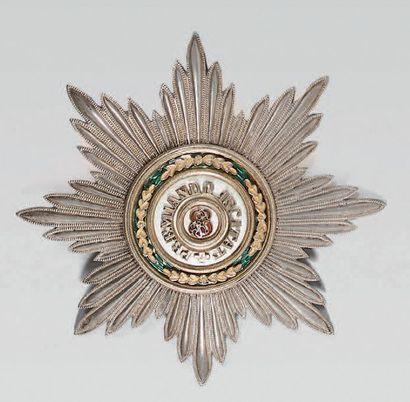 Plaque de 1ère classe de l'ordre de Saint-Stanislas,...