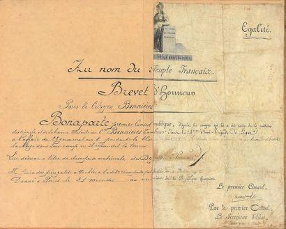 *Rare brevet d'honneur attribuant une paire...