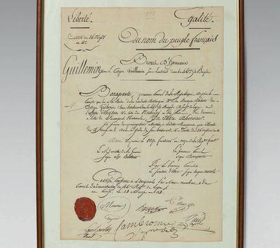 Duplicata de brevet d'un sabre d'honneur...