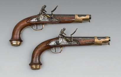 Très belle paire de pistolets de garde du...